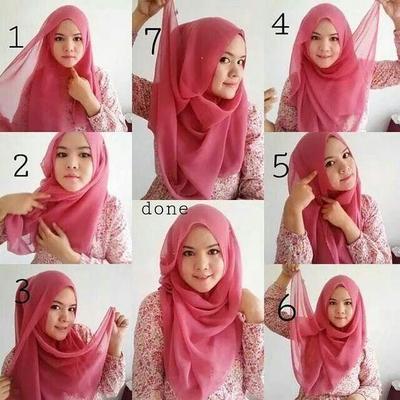 Hijab Segitiga Dengan Kreasi