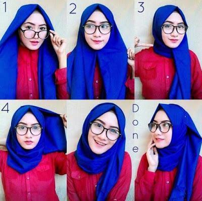 Hijab Segetiga Untuk Muka Bulat