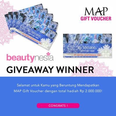 [GIVEAWAY ALERT] 4 Pemenang Giveaway Berhadiah MAP Gift Voucher Senilai Total Rp 2.000.000