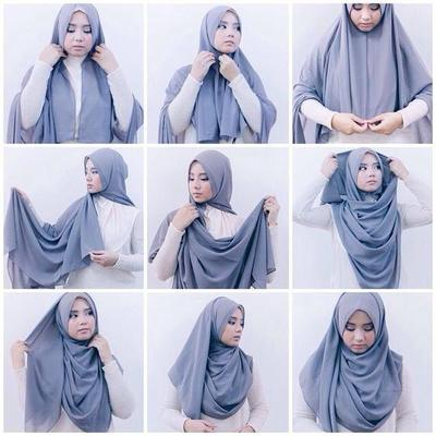 Tutorial Hijab Wisuda Simple