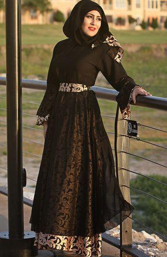 Model Baju Gamis Batik Kombinasi Chiffon