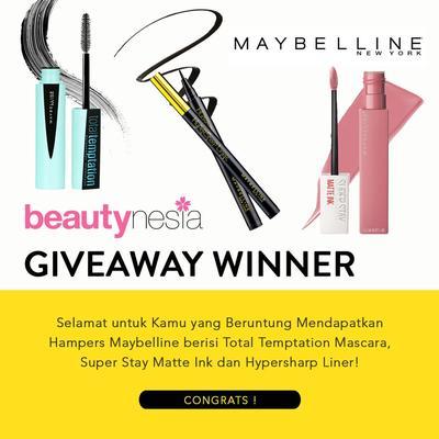 [GIVEAWAY ALERT] 3 Pemenang Giveaway Berhadiah Hampers Maybelline Gratis!