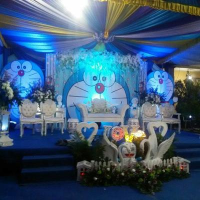 Dekorasi Pernikahan Doraemon Mewah