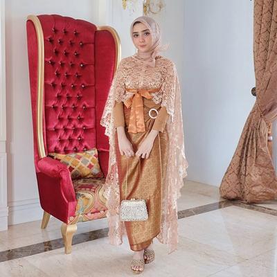 Baju Gamis Batik Brokat