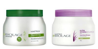 2. Masker Rambut Matrix Biolage Fiberstrong dan Ultra Hydrasource