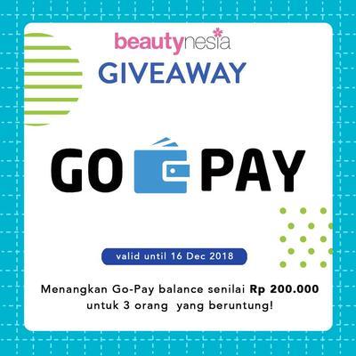 [GIVEAWAY ALERT] GO-PAY Balance Gratis Dari Beautynesia Untuk 3 Orang Beruntung!