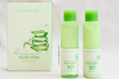 Review Nature Republic Aloe Vera, Cegah Tumbuhnya Jerawat di Wajah Kamu!