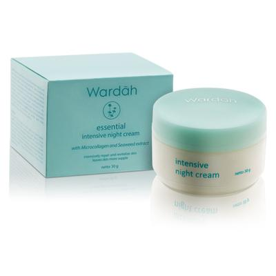 7. Wardah Essential Intensive Night Cream