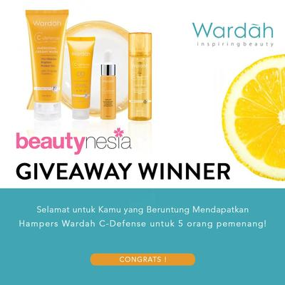 [GIVEAWAY ALERT] 5 Pemenang Wardah C-Defense Kit Gratis Dari Beautynesia!