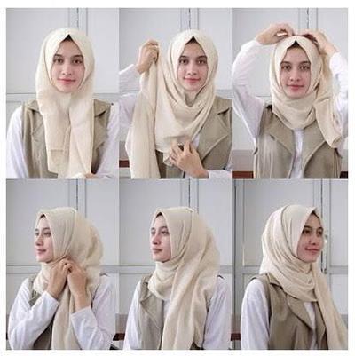 Tutorial Hijab Modern Simpel