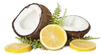 Minyak kelapa dan jus lemon