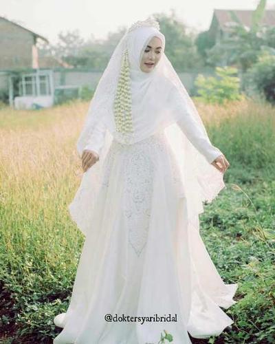 Model Gaun Pengantin Muslimah Yang Diprediksi Bakal Tren 2019