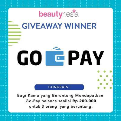 [GIVEAWAY ALERT] 3 Pemenang Beruntung Saldo Go-PAY Dari Beautynesia