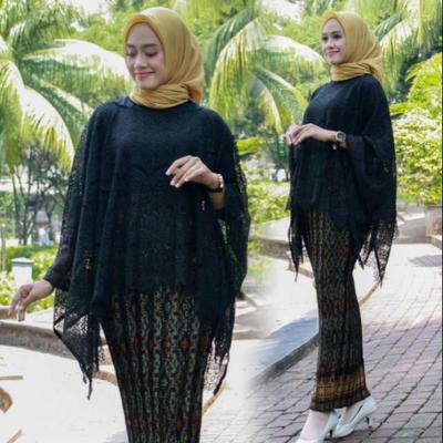 Model Kebaya Brokat Batwing Top