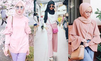 Tren 2019, Ini Inspirasi Mix and Match Hijab Warna Coral