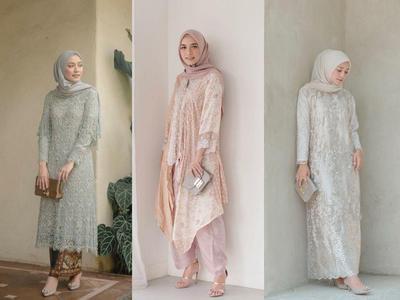 OOTD Hijab Style ke Kondangan Ala Mega Iskanti, Manis Banget dengan Warna Pastel