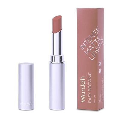 Wardah Intense Matte Lipstick shade Easy Brownie