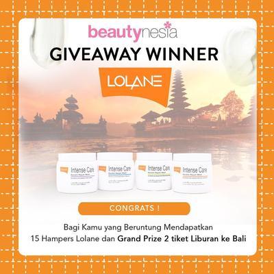 [GIVEAWAY ALERT] 16 Pemenang Giveaway Lolane! Selamat Ladies!