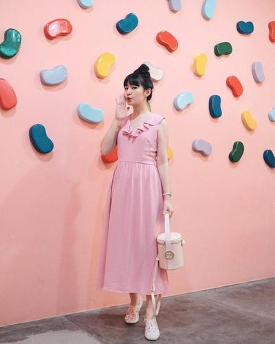 4. Pink Long Dress