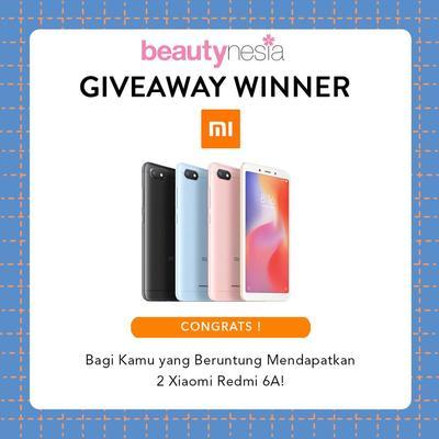 [GIVEAWAY ALERT] 2 Pemenang Giveaway Beautynesia Berhadiah Xiaomi Redmi 6A, Congrats Ladies!