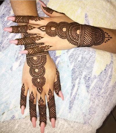 Desain Henna Arab