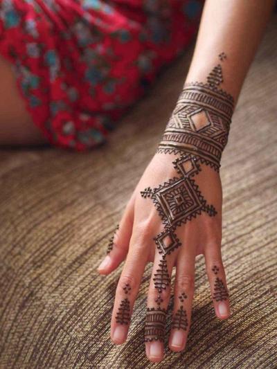Desain Henna Maroko