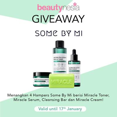 [GIVEAWAY ALERT] Beautynesia Bagi-bagi Hampers Dari Some By Mi Gratis, Ikutan Yuk Ladies!