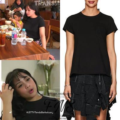 5. laid-Back Cotton Short-Sleeve T-shirt