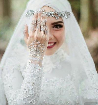 Tampak Elegan Ini Dia 5 Warna Gaun Pengantin Muslimah