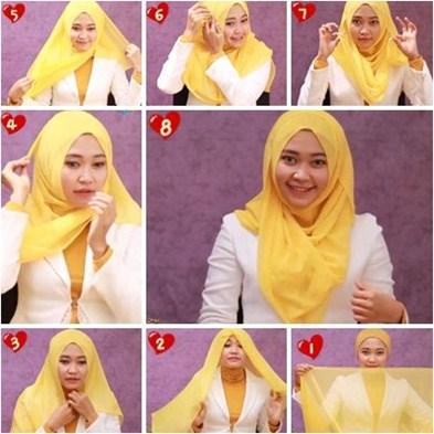 Tutorial Hijab Segi Empat - Simpel & Casual