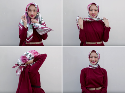 Tutorial Hijab Segi Empat - Lilit Leher
