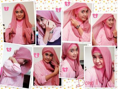 Tutorial Hijab Segi Empat - Rambut Kuda Poni
