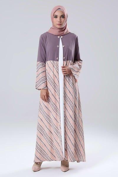 Inspirasi Model Baju Batik Gamis Kombinasi Blazer
