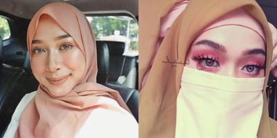 Inspirasi Riasan Tasya Sayeed, Wanita Bercadar yang Pernah Viral Lewat Eye Makeup