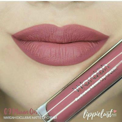 1. Wardah Exclusive Matte Lip Cream 09, Mauve On
