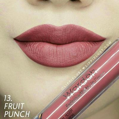 4. Wardah Exclusive Matte Lip Cream 13, Fruit Punch