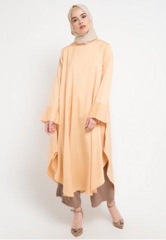 1. Baju Tunic Warna Peach