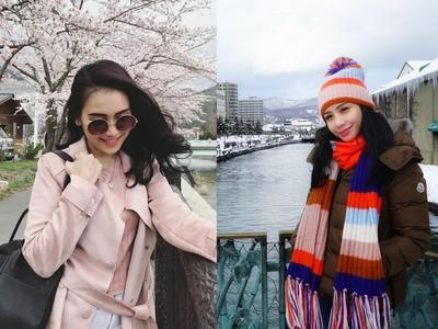 Gaya Liburan di Jepang Nagita Slavina dan Ayu Ting Ting, Siapa Paling Kece?