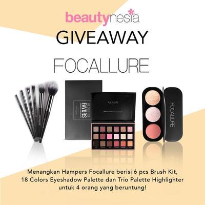 [GIVEAWAY ALERT] Mau Makeup Gratis? Ikutan Giveaway Beautynesia Berhadiah Hampers Focallure Yuk!