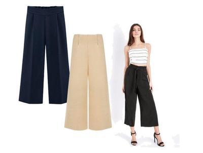 1. Pilihlah Potongan Celana Kulot yang Lurus
