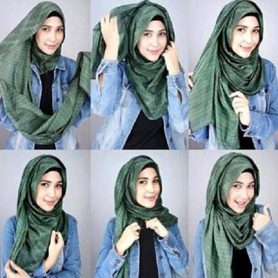 4. Layered Style Pashmina