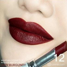 Wardah Intense Matte Lipstick No 12 (Lady Burgundy)