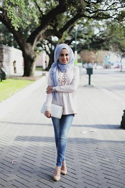 3) Style Hijab Kondangan Model Pashmina Rawis