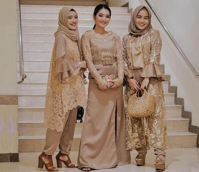 Model Kebaya Modern Brokat