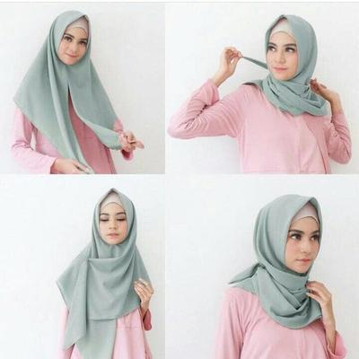 Ladies, Ini Cara Memakai Hijab Segitiga Dengan Praktis! Bikin Tampilanmu Makin Cantik Setiap Hari!