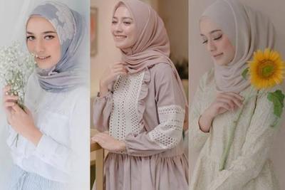 Hijabers, Ganti Kebaya Kamu dengan Paduan Tunik Untuk Kondangan ala Mega Iskanti