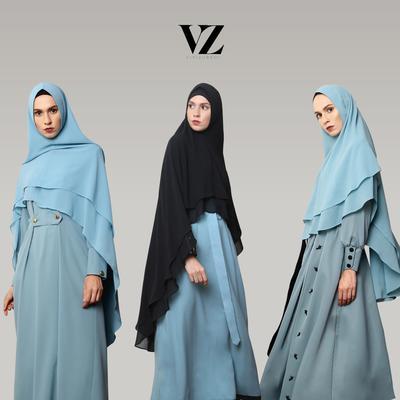 Tetap Stylish dan Cantik, Ini Beragam Model Gaun Muslimah Syar'i untuk ke Acara Pesta!