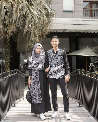 Batik Couple Maxi Black