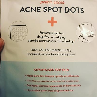 3. Peach Slices Acne Spot Dots