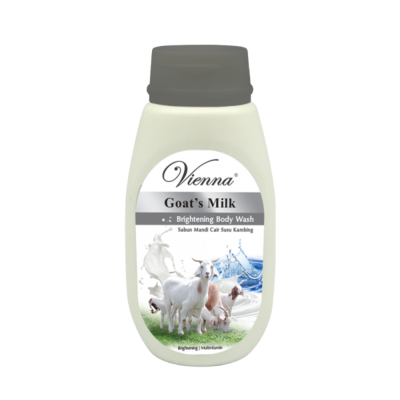 6.	Sabun Cair Vienna Goat's Milk Whitening  Body Wash